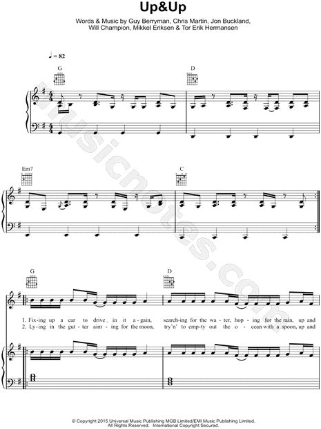 Fantastic Paradise Coldplay Chords Gallery - Chord Sites - creation ...