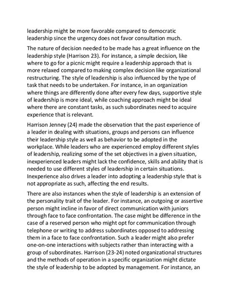 Democratic leadership style essay words major tests jpg 638x826