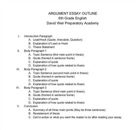 How to create a powerful argumentative essay outline jpg 582x547
